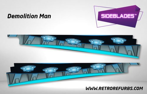 Demolition Man Pinball SideBlades Inside Decals Sideboard Art Pin Blades