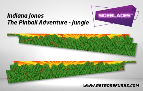 Indiana Jones Jungle Pinball SideBlades Inside Decals Sideboard Art Pin Blades