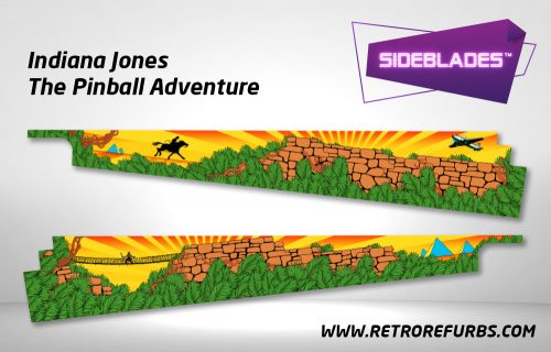 Indiana Jones The Pinball Adventure Pinball SideBlades Inside Decals Sideboard Art Pin Blades