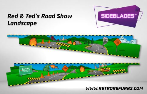 Road Show Landscape Pinball SideBlades Inside Decals Sideboard Art Pin Blades
