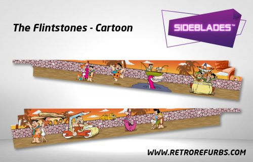 The Flintstones Cartoon Pinball SideBlades Inside Decals Sideboard Art Pin Blades