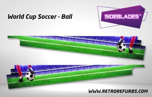 World Cup Soccer Ball Pinball SideBlades Inside Decals Sideboard Art Pin Blades