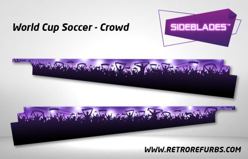 World Cup Soccer Crowd Pinball SideBlades Inside Decals Sideboard Art Pin Blades