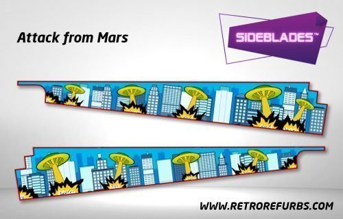 Attack From Mars Pinball SideBlades Inside Decals Sideboard Art Pin Blades