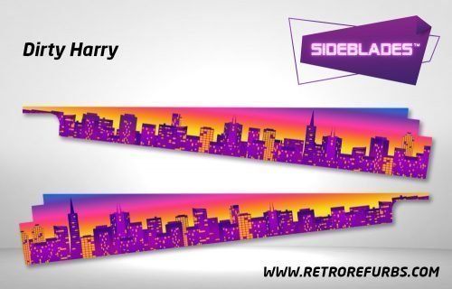 Dirty Harry Pinball SideBlades Inside Decals Sideboard Art Pin Blades