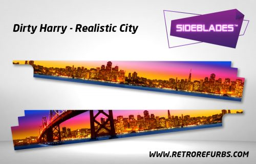 Dirty Harry Realistic City Pinball SideBlades Inside Decals Sideboard Art Pin Blades