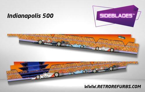 Indianapolis 500 Pinball SideBlades Inside Decals Sideboard Art Pin Blades
