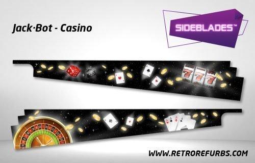 Jack Bot Casino Pinball SideBlades Inside Decals Sideboard Art Pin Blades