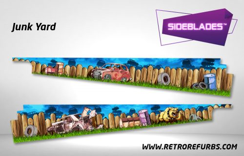 Junk Yard Pinball SideBlades Inside Decals Sideboard Art Pin Blades