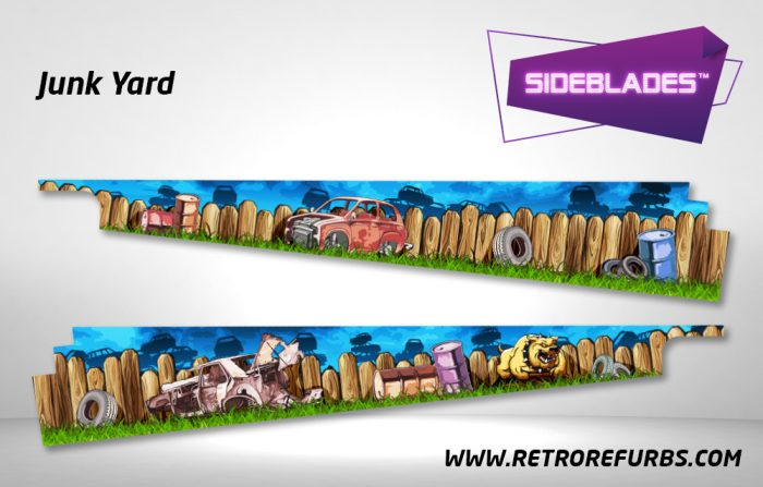 Junk Yard Pinball SideBlades Inside Decals Sideboard Art Pin Blades
