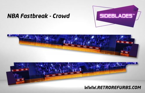 NBA Fastbreak Crowd Pinball SideBlades Inside Decals Sideboard Art Pin Blades