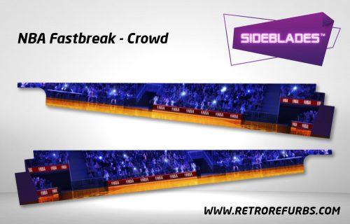 NBA Fastbreak Crowd Pinball SideBlades Inside Decals Sideboard Art Pin Blades