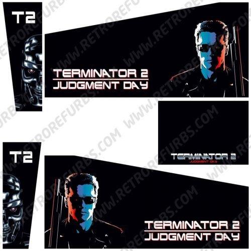 Terminator 2 Black Alternate Pinball Cabinet Decals Flipper Side Art