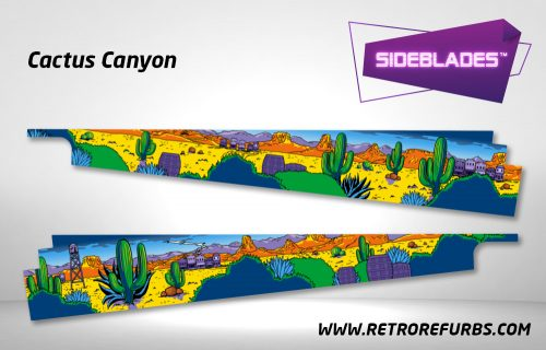 Cactus Canyon Pinball SideBlades Inside Decals Sideboard Art Pin Blades