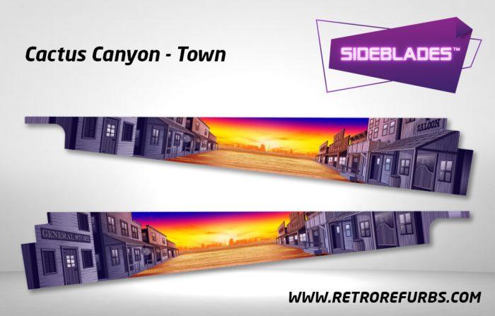 Cactus Canyon Town Pinball SideBlades Inside Decals Sideboard Art Pin Blades