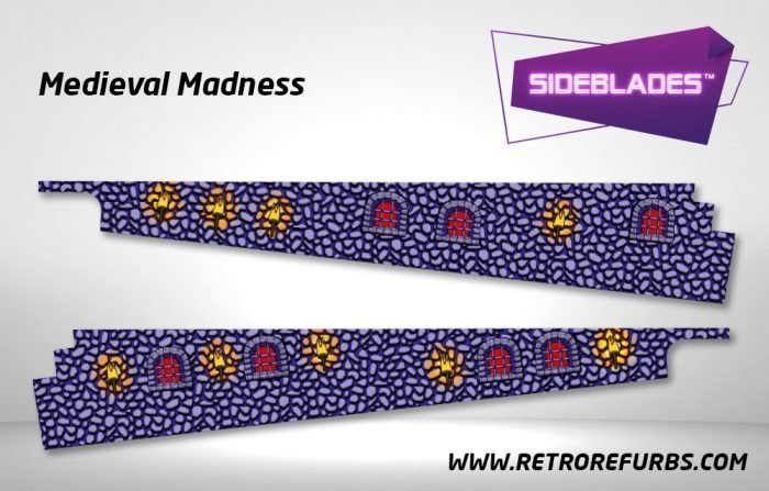 Medieval Madness Pinball SideBlades Inside Decals Sideboard Art Pin Blades