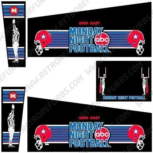 Monday Night Football Pinball Cabinet Decals Flipper Side Art
