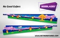 No Good Gofers Pinball SideBlades Inside Decals Sideboard Art Pin Blades