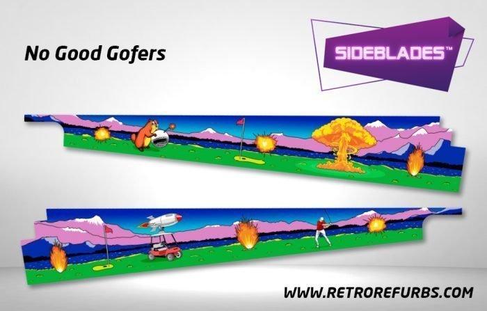 No Good Gofers Pinball SideBlades Inside Decals Sideboard Art Pin Blades
