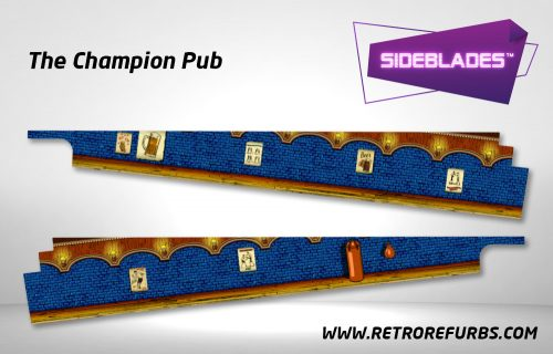 The Champion Pub Pinball SideBlades Inside Decals Sideboard Art Pin Blades
