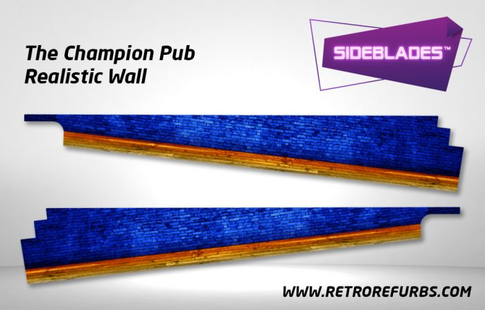 The Champion Pub Realistic Wall Pinball SideBlades Inside Decals Sideboard Art Pin Blades