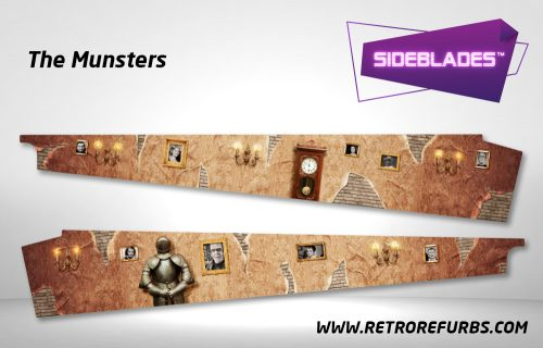 The Munsters Pinball SideBlades Inside Decals Sideboard Art Pin Blades