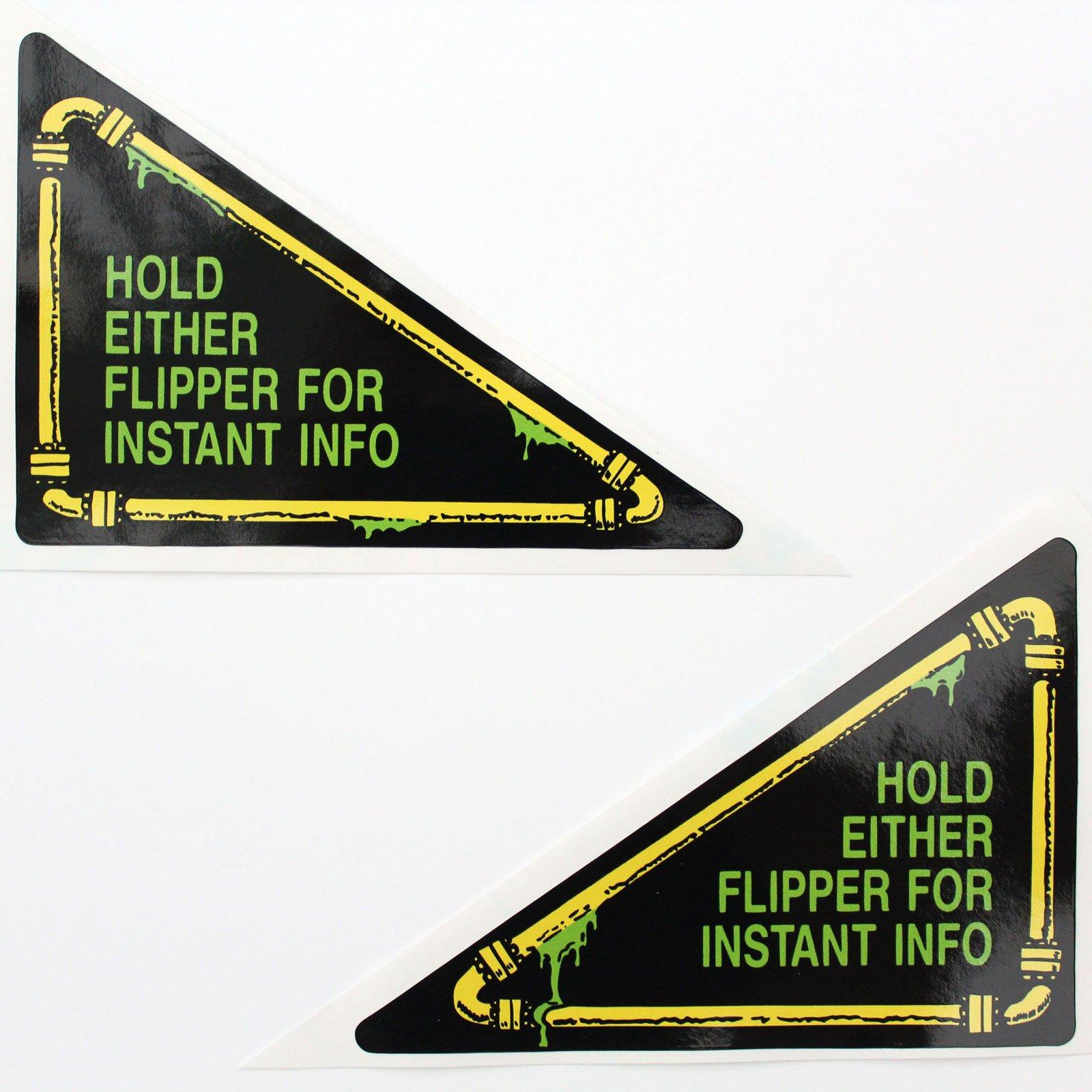 Teenage Mutant Ninja Turtles Pinball Flipper Apron Decals Stickers 01