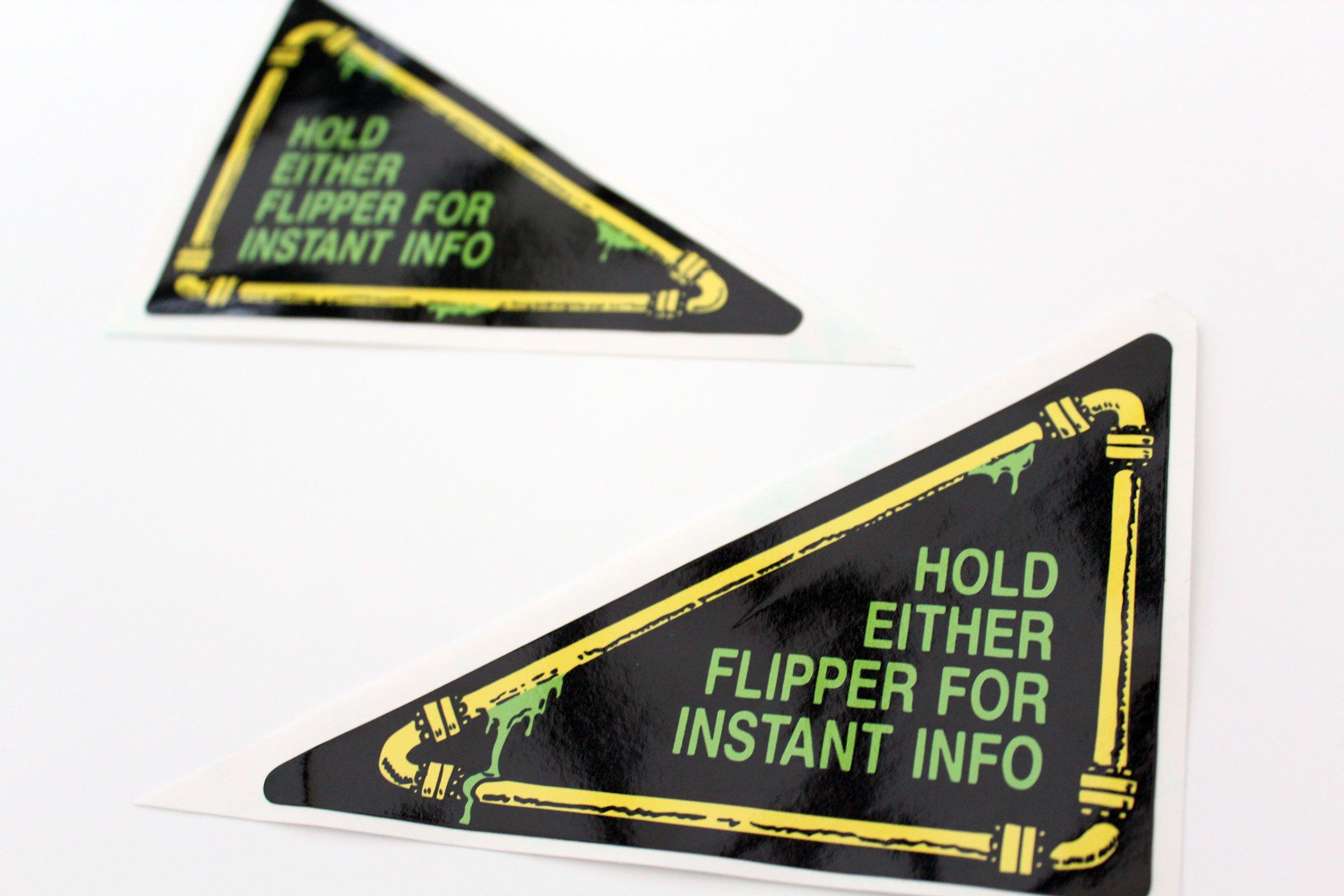 Teenage Mutant Ninja Turtles Pinball Flipper Apron Decals Stickers 02