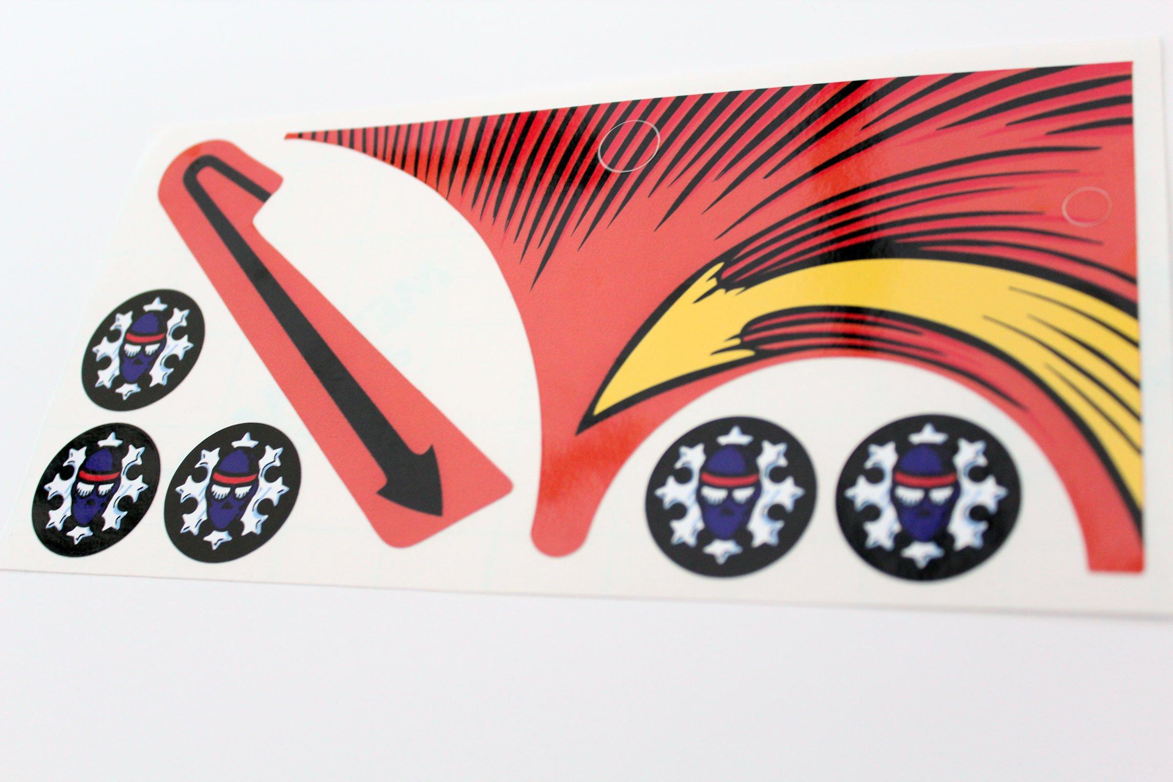 Teenage Mutant Ninja Turtles Pinball Ramp Top Bumper Decals Stickers 02