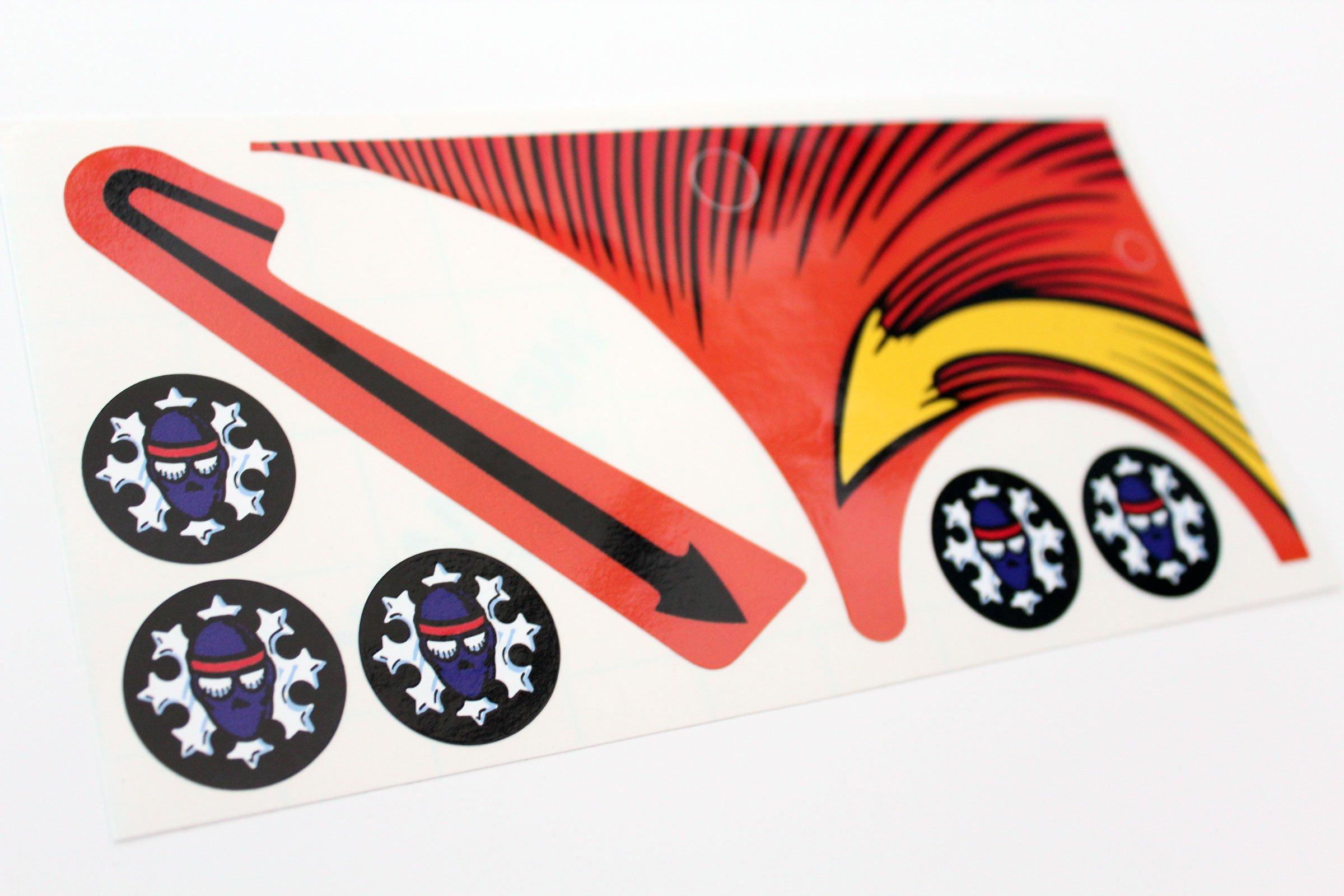 Teenage Mutant Ninja Turtles Pinball Ramp Top Bumper Decals Stickers 03