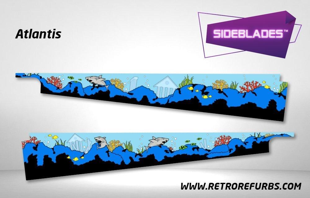 Atlantis Pinball SideBlades Inside Decals Sideboard Art Pin Blades