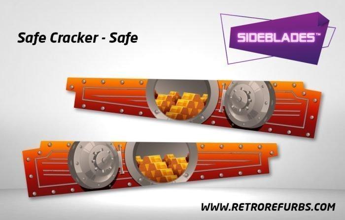 Safe Cracker Vault Pinball SideBlades Inside Decals Sideboard Art Pin Blades