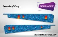 Swords of Fury Pinball SideBlades Inside Decals Sideboard Art Pin Blades
