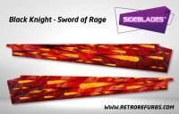 Black Knight Sword of Rage - Original Pinball Sideblades Inside Inner Art Decals Sideboard Art Pin Blades