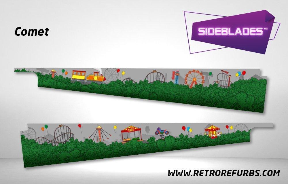 Comet Pinball Sideblades Inside Inner Art Decals Sideboard Art Pin Blades