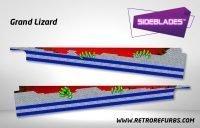 Grand Lizard Pinball Sideblades Inside Inner Art Decals Sideboard Art Pin Blades