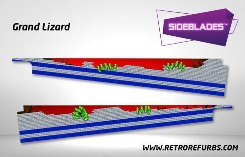 Grand Lizard Pinball Sideblades Inside Inner Art Decals Sideboard Art Pin Blades