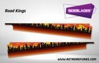 Road Kings Pinball Sideblades Inside Inner Art Decals Sideboard Art Pin Blades