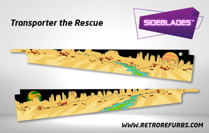 Transporter The Rescue Pinball Sideblades Inside Inner Art Decals Sideboard Art Pin Blades