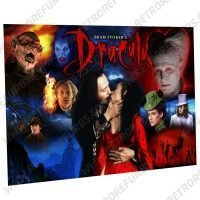Bram Stokers Dracula Movie Montage 1 Alternate Pinball Translite Alternative Flipper Backglass