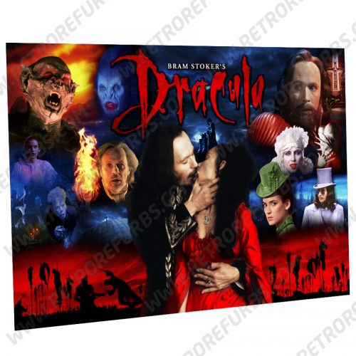 Bram Stokers Dracula Movie Montage 2 Alternate Pinball Translite Alternative Flipper Backglass