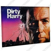 Dirty Harry Eastwood Alternate Pinball Translite Alternative Flipper Backglass