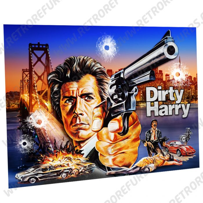 Dirty Harry SFPD Alternate Pinball Translite Alternative Flipper Backglass