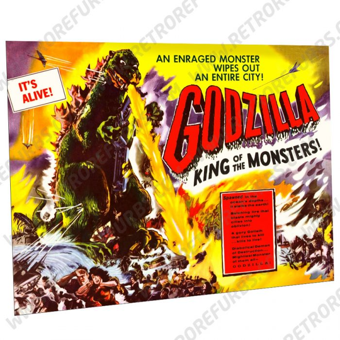 Godzilla 1956 Alternate Pinball Translite Alternative Flipper Backglass