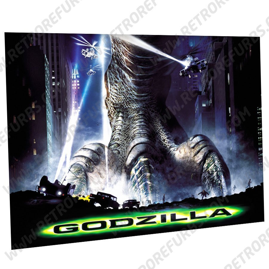 Godzilla 1998 Alternate Pinball Translite Alternative Flipper Backglass