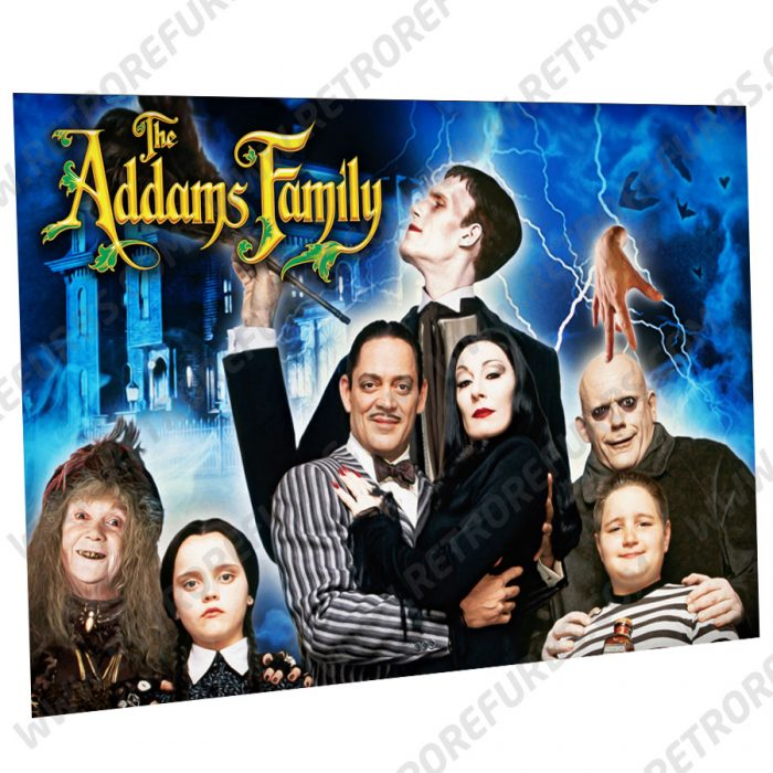 The Addams Family Dark Alternate Pinball Translite Alternative Flipper Backglass