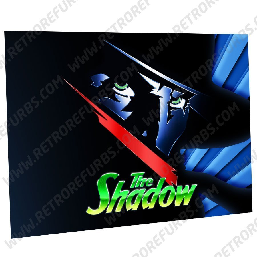 The Shadow Logo Alternate Pinball Translite Alternative Flipper Backglass