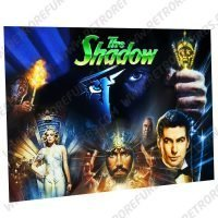The Shadow Movie Montage Alternate Pinball Translite Alternative Flipper Backglass