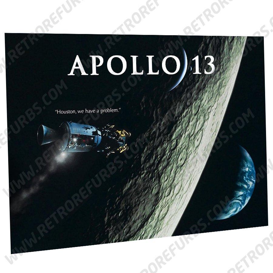 Apollo 13 Moon Alternate Pinball Translite Alternative Flipper Backglass