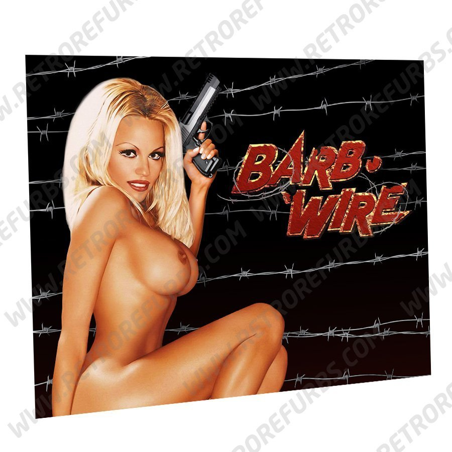 Barb Wire Nude Alternate Pinball Translite Alternative Flipper Backglass